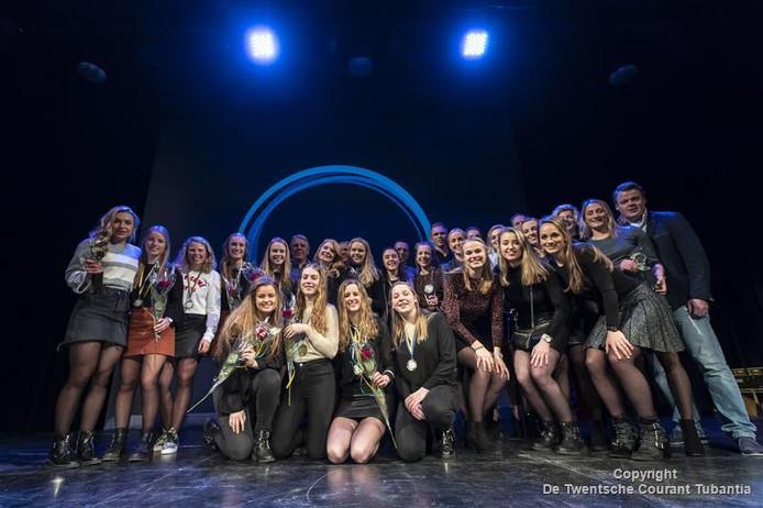 De trotse winnaars van het Sportgala van vorig jaar.