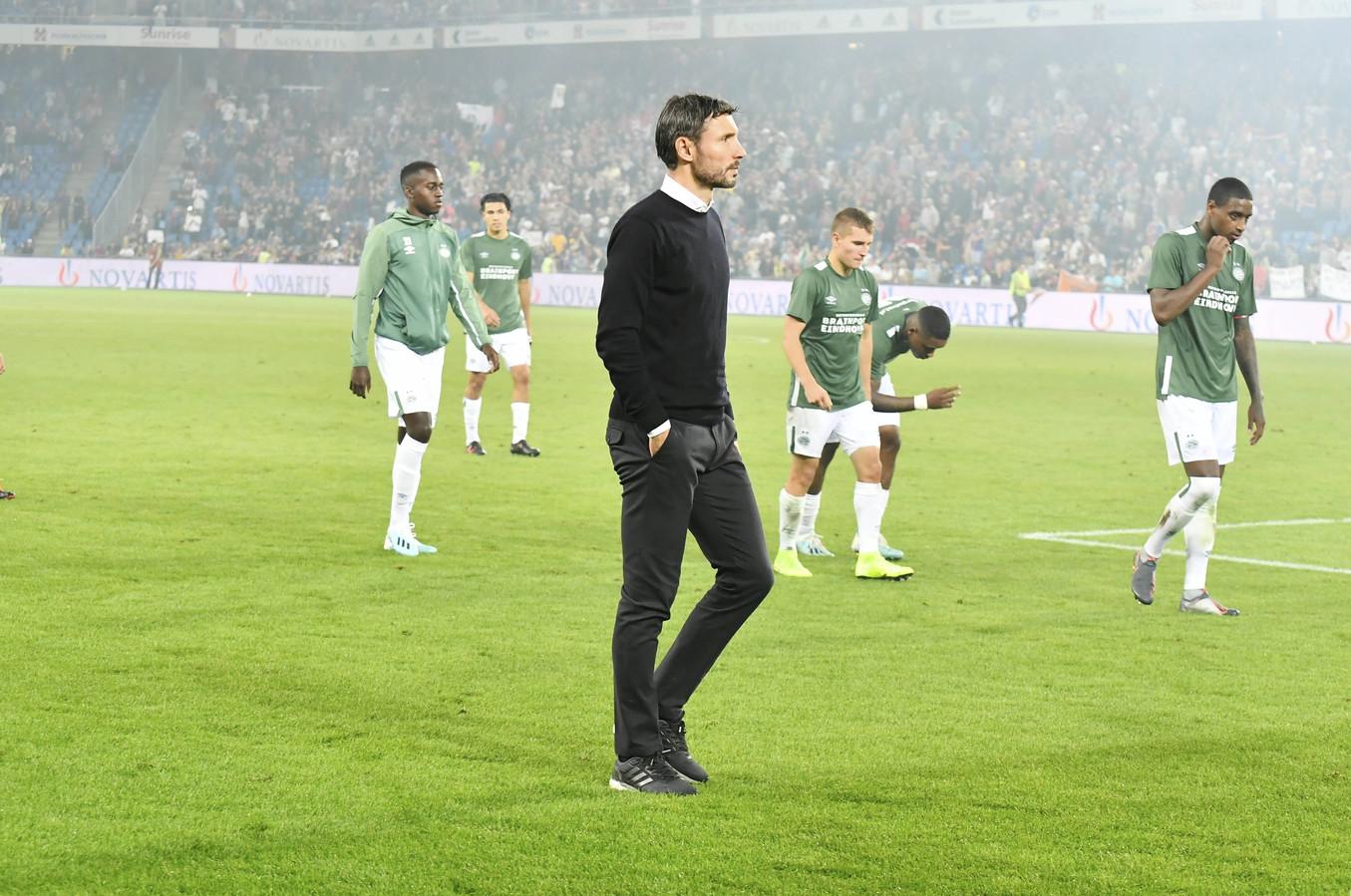 PSV druipt af na het echec in het St. Jakob-Park.