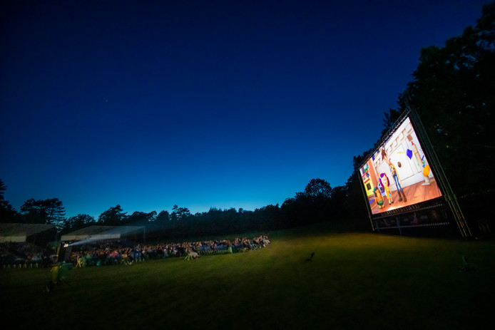 De voorstelling van gisteravond op de bosweide van Park Berg en Bosy: Toy Story 4.