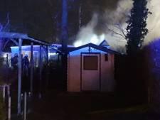 Brand in stacaravan op camping in Haaksbergen
