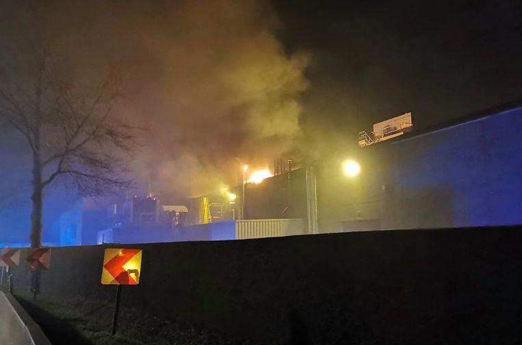 De brand ging gepaard met nogal wat rookontwikkeling.