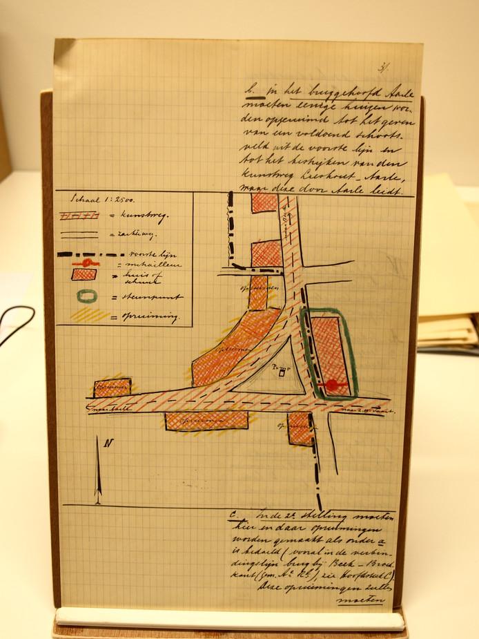 """,,Aan het pleintje aan de Dorpsstraat-Wilhelminalaan in Aarle-Rixtel zouden er huizen worden geruimd om een vrij schootsveld te hebben."""""""