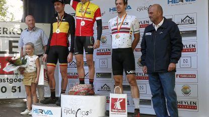 Kristof Cop wordt Antwerps kampioen veldrijden in Vorselaar