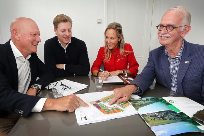 John Sars, Eduard Sars. Tanja van der Avoird en Toon Maes slaan de handen ineen om een nieuwe wijk in Bergen op Zoom te ontwikkelen.