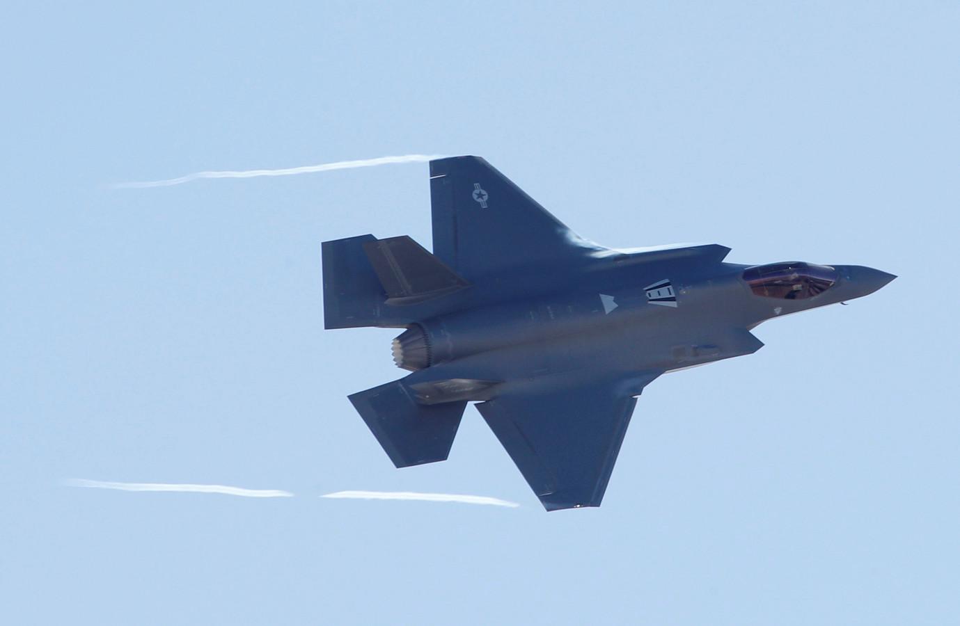 Een F35, het type vliegtuig dat onder andere over de Peel zal gaan vliegen
