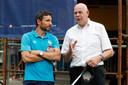 Toon Gerbrands met PSV-trainer Mark van Bommel.