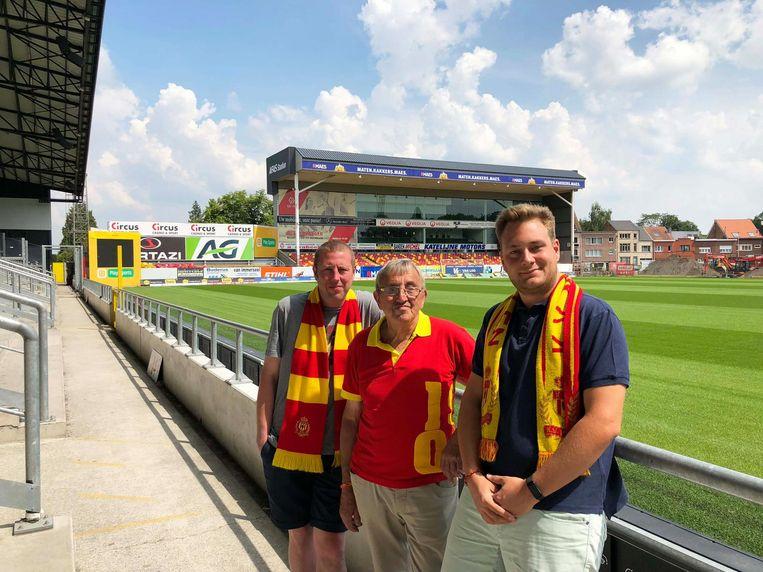 Chiel, Jean en Sem zijn ook alle drie fervente supporters van KV Mechelen.