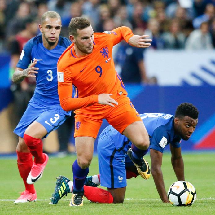 Vincent Janssen bij de interland tussen Frankrijk en Nederland.