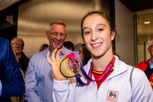 Nina Derwael, wereld- en Europees kampioene aan de brug met ongelijke leggers, gaat mogelijk met de prijs aan de haal.