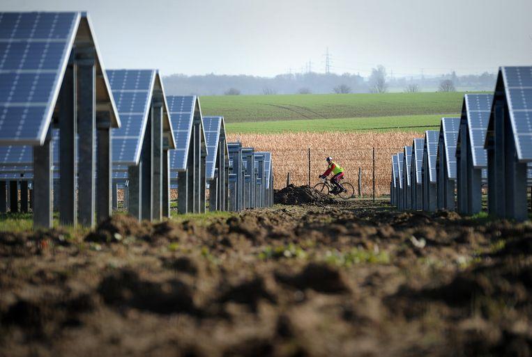Zonnepanelen in het Limburgs landschap. Beeld anp