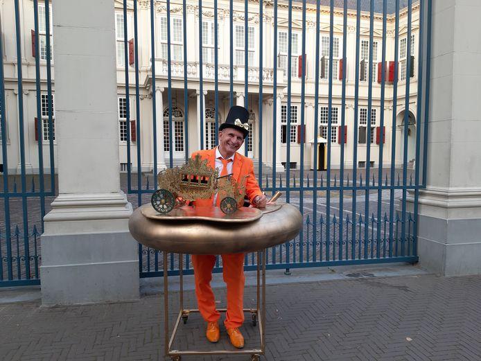 Oranjefan Johan Vlemmix uit Eindhoven.
