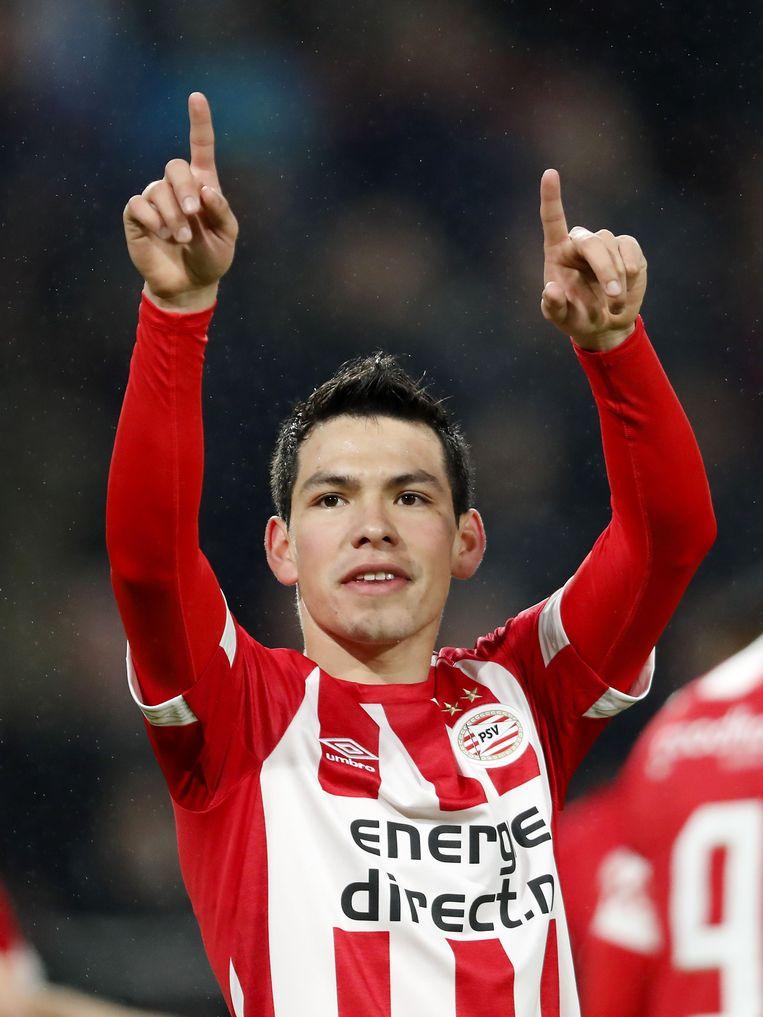 PSV'er Lozano is alleen af te stoppen met een overtreding