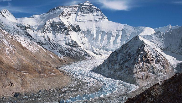 Zicht op het Himalayagebergte. Beeld null