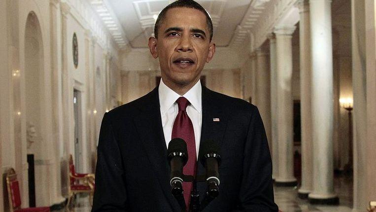Obama verklaart op 1 mei dat Osama Bin Laden is gedood. Beeld ap