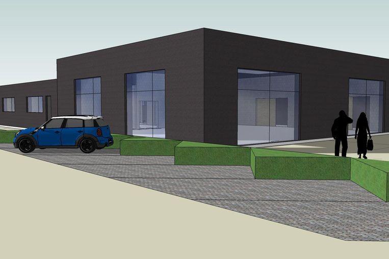 Een simulatiebeeld van het nieuwe provinciale ontmoetingscentrum in Kruishoutem.