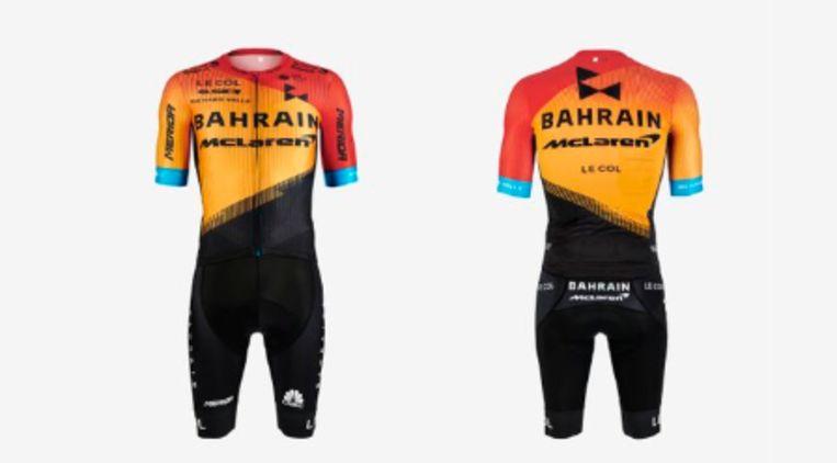 De nieuwe outfit van Bahrain-McLaren.