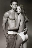 Mark Wahlberg en Kate Moss voor Calvin Klein, 1993.