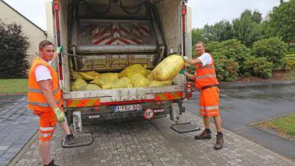 Frequentie ophaling gele zakken gaat niet omhoog, ook niet in de zomer