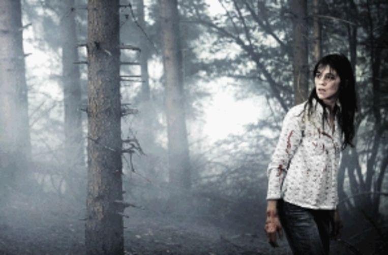 Charlotte Gainsbourg is als een vreemd spook in 'Antichrist'. (Trouw) Beeld