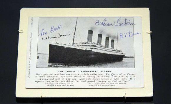 Postkaart van de Titanic