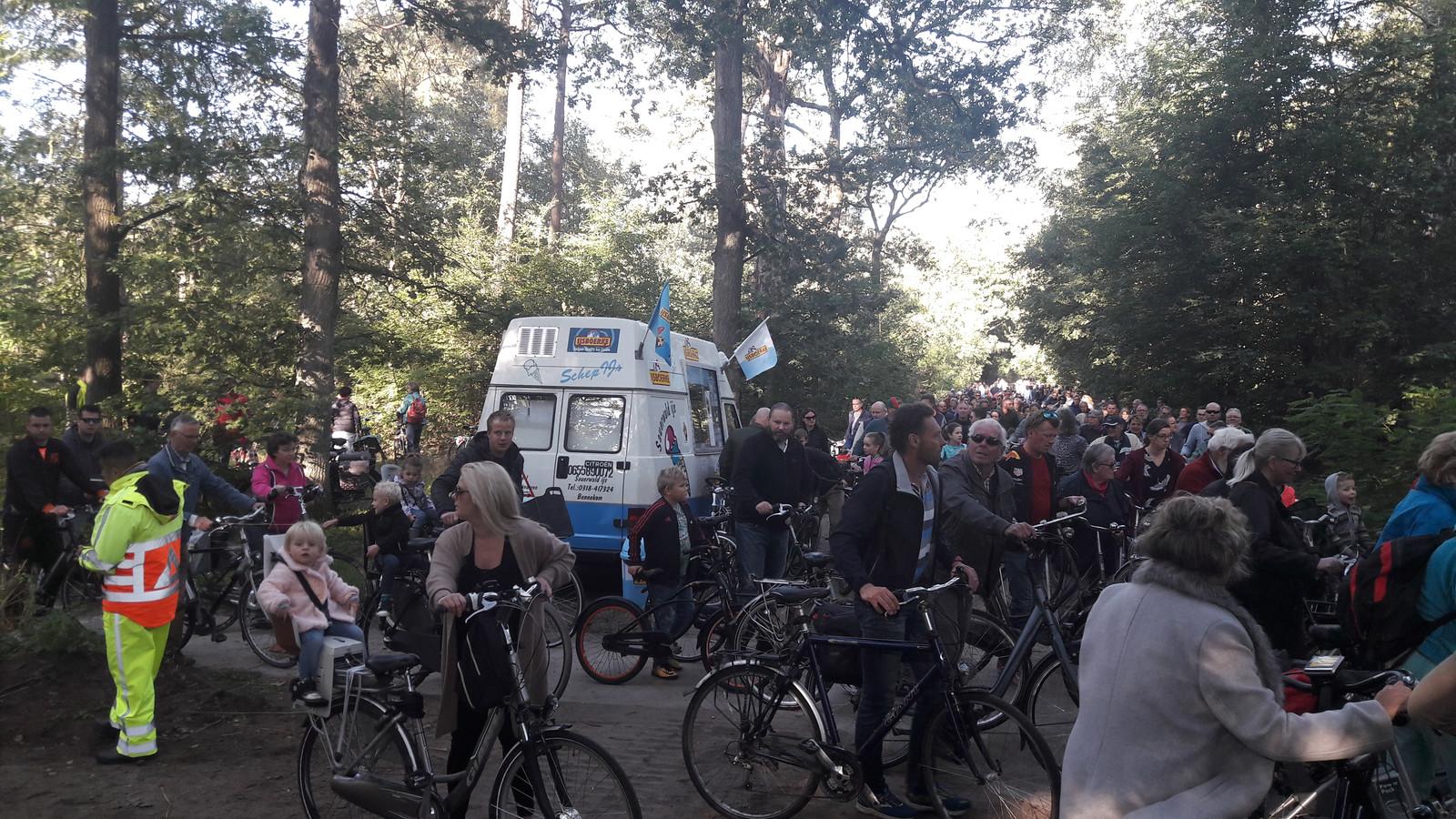 Fietsfiles naar de Ginkelse heide vanwege herdenking Market Garden.