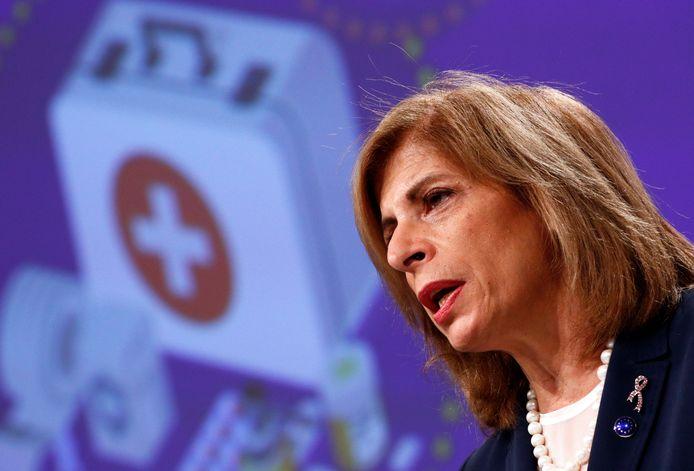 la commissaire à la Santé Stella Kyriakides
