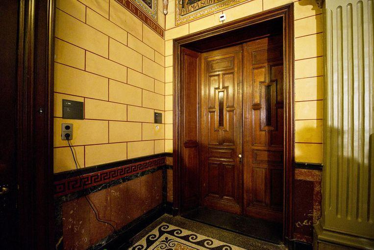 De deur van de fractiekamer van het CDA. (ANP) Beeld