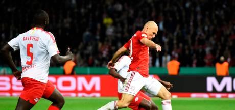 Invaller Robben grijpt prijs in laatste wedstrijd Bayern