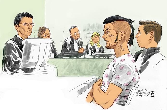 Joeri B. kreeg drie jaar voor het dichtknijpen van de keel van een agente in de binnenstad van Amersfoort.