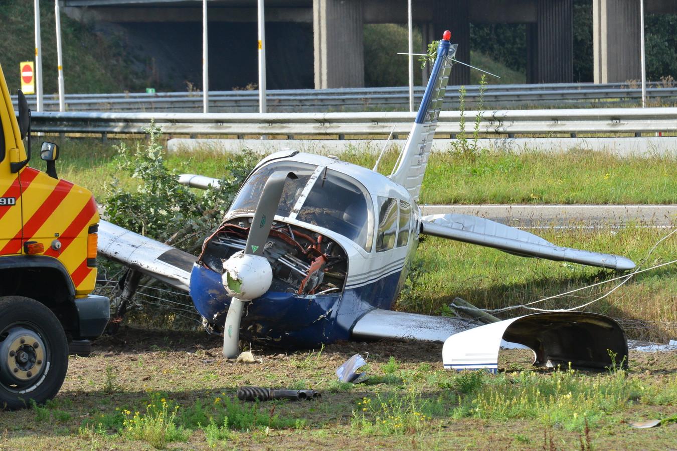 Vliegtuig van baan geschoten Breda International Airport