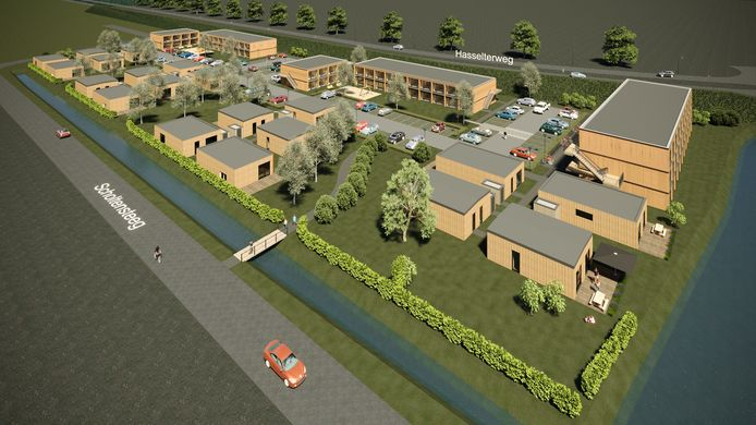 Het plan voor 106 woningen aan de Scholtensteeg in Zwolle.
