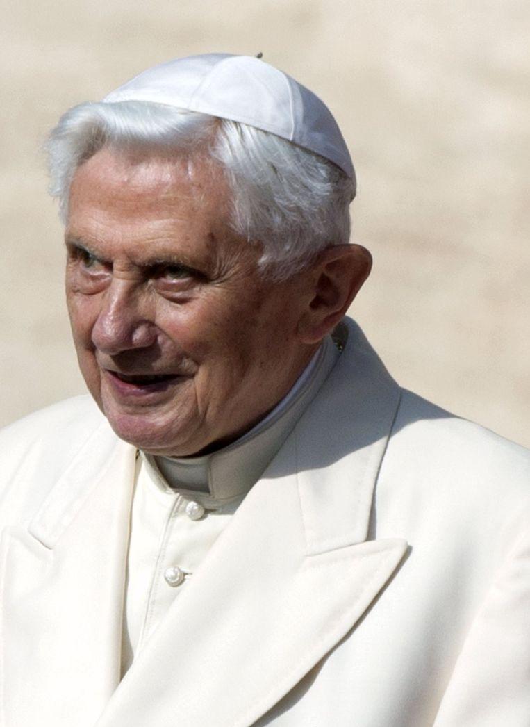 De voormalige paus Benedictus XVI.