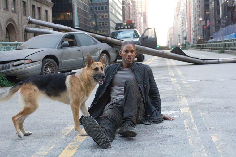 Will Smith in I Am Legend (2007) Beeld Warner Bros