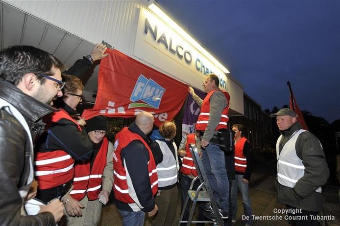 Personeel van Nalco legde onlangs het werk neer. Foto: Carlo ter Ellen