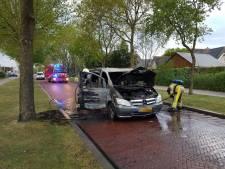 Auto vliegt 'spontaan' in brand in Staphorst