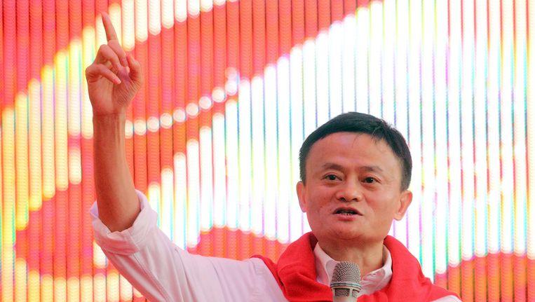 Jack Ma, topman bij Alibaba in mei van dit jaar Beeld AP