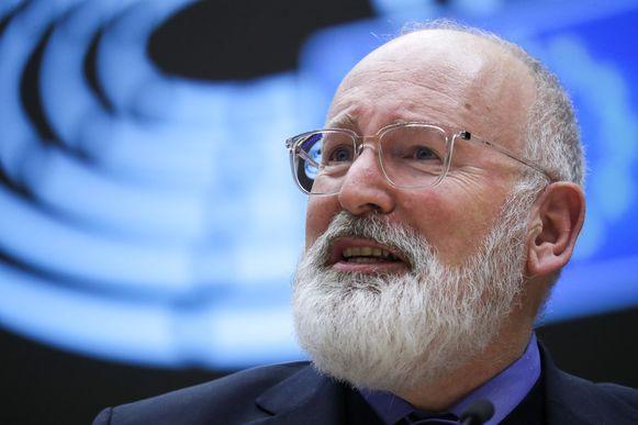 De Europese klimaatcommissaris en vicevoorzitter van de Europese Commissie, Frans Timmermans.