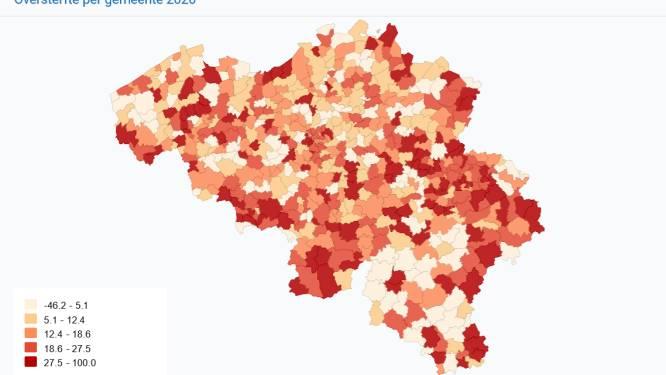 Oversterfte hoogst in Koekelare, Koksijde en Middelkerke