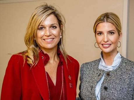 Koningin Máxima praat in New York met Ivanka Trump