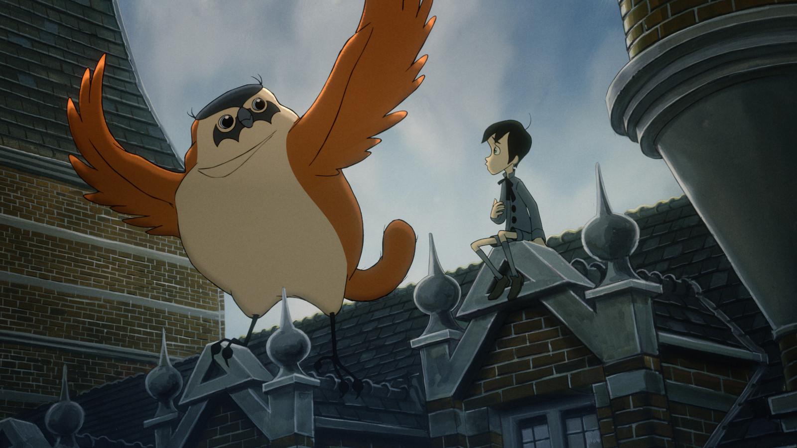 Een fragment uit de animatiefilm From The Snow-Covered Hill.