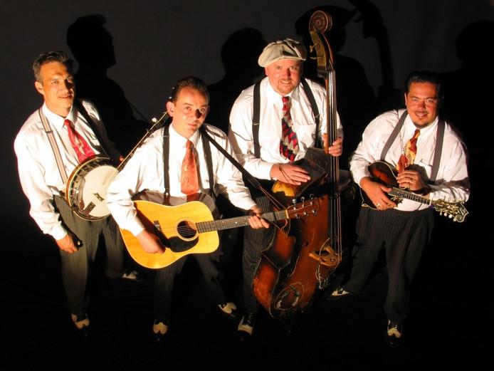 De Blue Grass Boogiemen, volgens Henk Lammers de beste bluegrassband van Nederland.