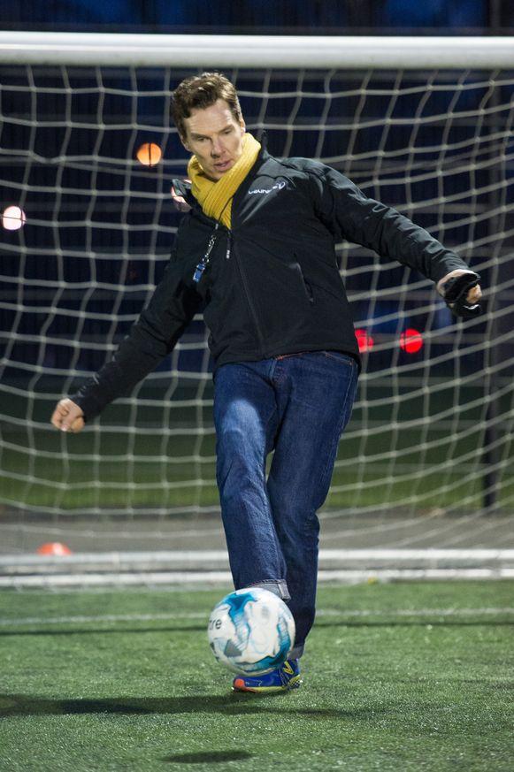 Benedict Cumberbatch bewijst zich als doelman.