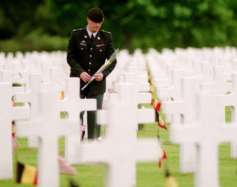 Het Amerikaans militair kerkhof in Neuville-en-Condroz in Luik.