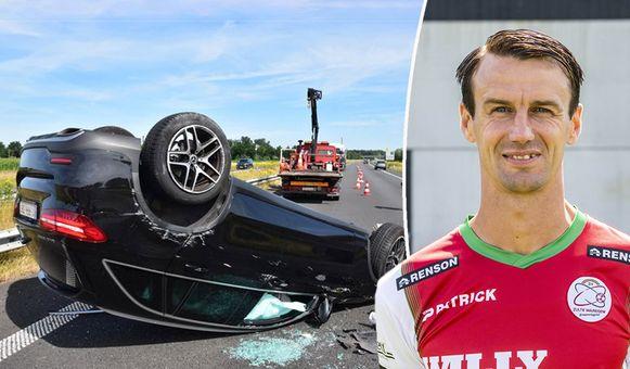 De auto van Davy De fauw maakte deze ochtend een zware crash.