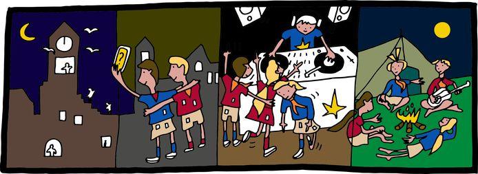 Thomas Nollet maakte deze illustratie om jongeren te ronselen.