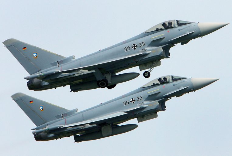 Eurofighter-straaljagers van de Duitse luchtmacht.