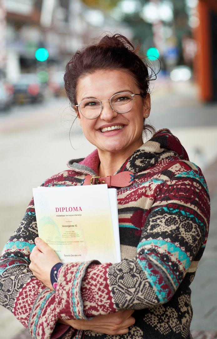 Sanella Derakovic. Ze werkt in Nieuwehagen in Den Bosch.