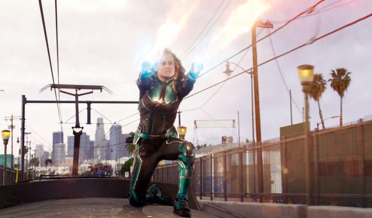 Brie Larson als Captain Marvel. Beeld AP