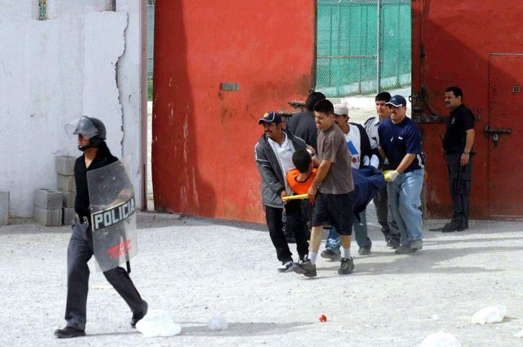 Behalve de twintig doden vielen er ook zeven gewonden, van wie er één in kritieke toestand verkeerde. Foto ANP/Guadalupe Perez Beeld