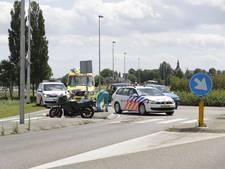 Motorrijder gewond door val op rotonde in Hattem